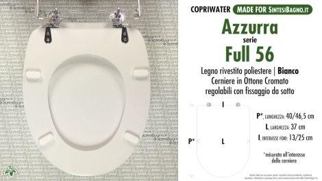 Ricambio copriwater per vaso AZZURRA modello FULL 56