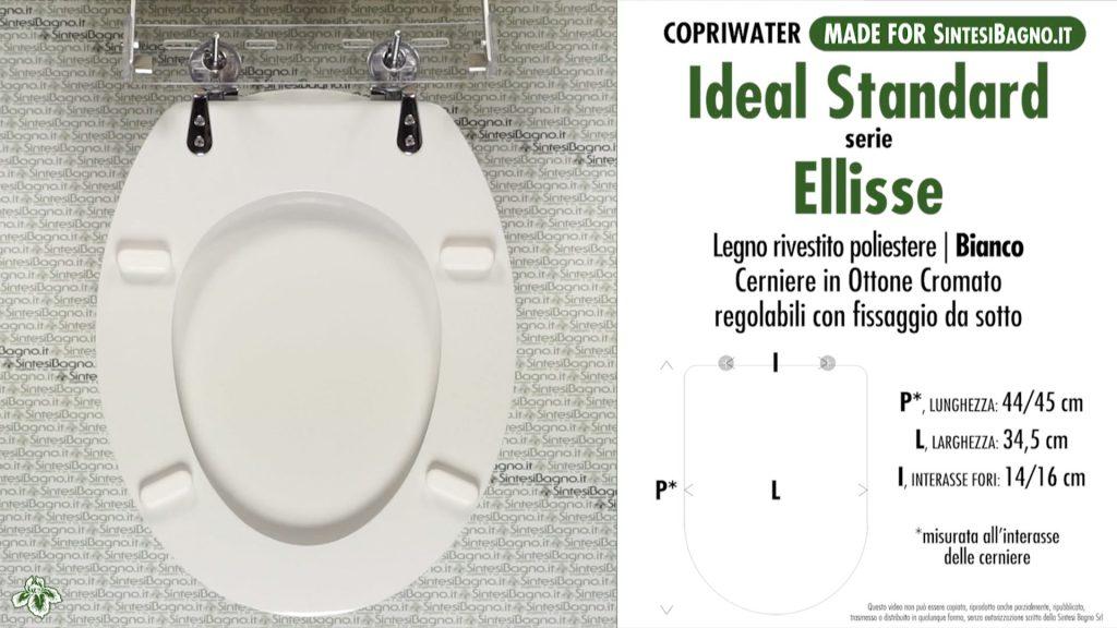 Sedute wc Ideal Standard serie Ellisse (larghezza 34,5/35 cm)