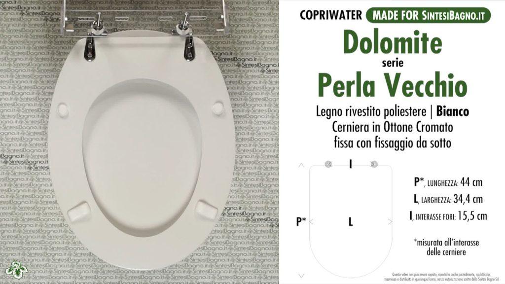 Sedute wc Perla Classic ceramica Dolomite