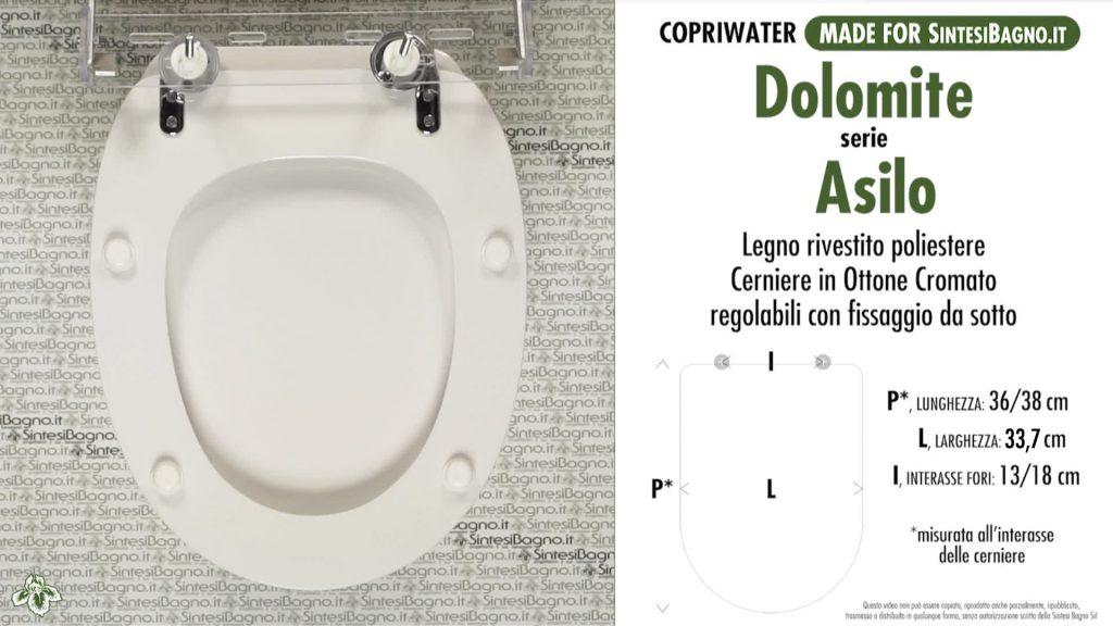 Sedute wc ASILO Dolomite
