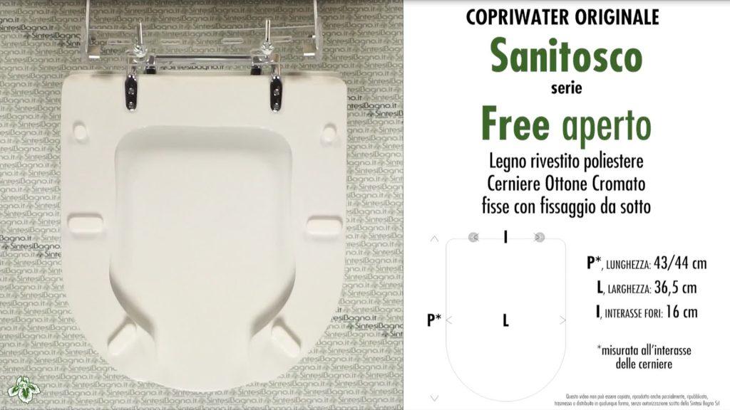 COPRIWATER per wc DISABILI SANITOSCO. FREE APERTO CON COPERCHIO